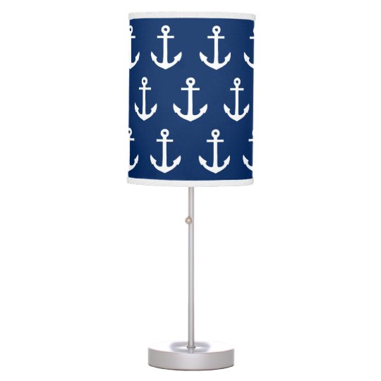 Anchors Away in Navy | Table Lamp