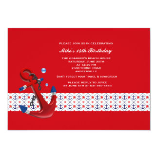 Anchors Away Invitation