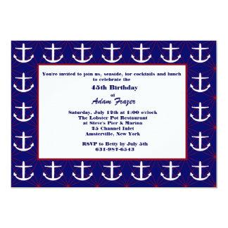 Anchors Away Invitation