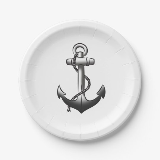 """Anchors Away Paper Plates 7"""" 7 Inch Paper Plate"""