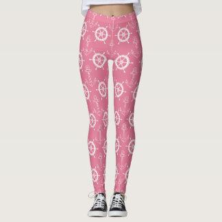 Anchors Away Pink Leggings