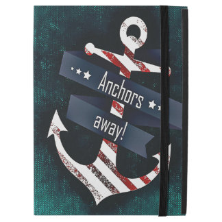 "Anchors Away Print Red White Nautical Anchor iPad Pro 12.9"" Case"