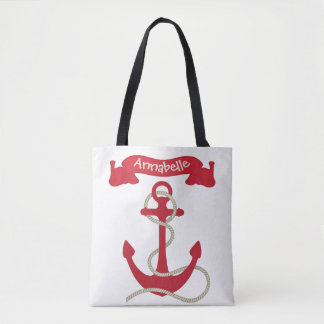 Anchors Away Red Tote Bag
