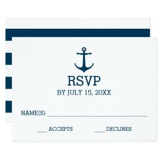 Anchors Away - RSVP Card