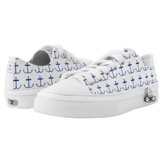 Anchors Away Sneakers (Dark Print)