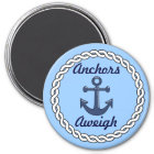 Anchors Aweigh Blue Magnet