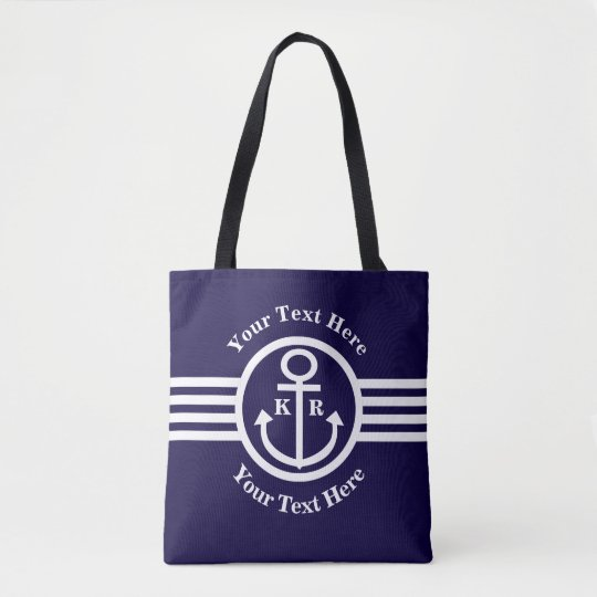 Anchors Aweigh Going on a Cruise Nautical Tote Bag