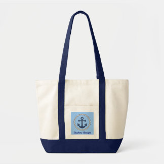 Anchors Aweigh Nautical Themed Tote Bag