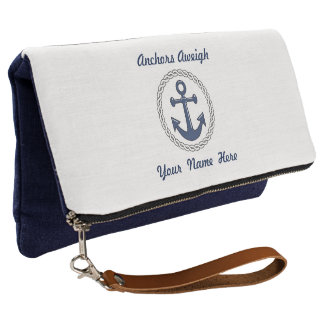 Anchors Aweigh Personalized Clutch