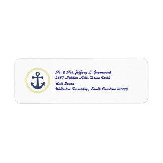 Anchors Aweigh Return Address Label
