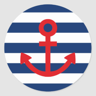 Anchors Aweigh Round Sticker