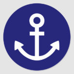 Anchors Aweigh Round Stickers