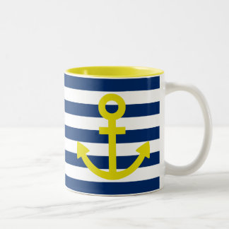 Anchors Aweigh Two-Tone Coffee Mug