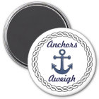 Anchors Aweigh White Magnet