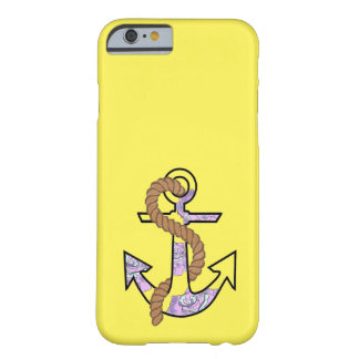 Anchors Forever blue and purple Barely There iPhone 6 Case