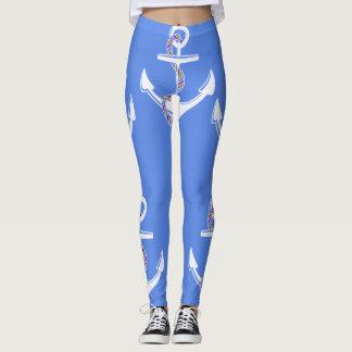 Anchor's_Med-Blue_LEGGING'S_XS-XL Leggings