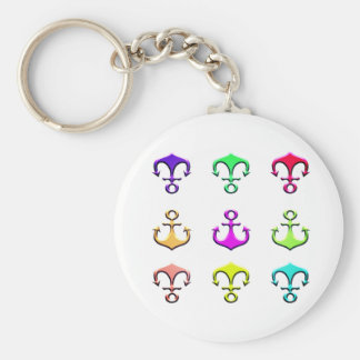 anchors of colors keychain