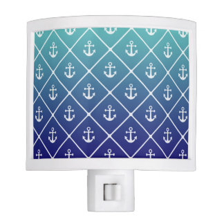 Anchors on gradient teal to blue background nite lite