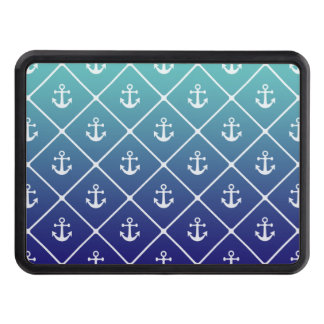 Anchors on gradient teal to blue background trailer hitch cover