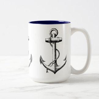 Anchors Two-Tone Coffee Mug