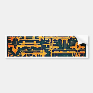 Ancient abstract bumper sticker