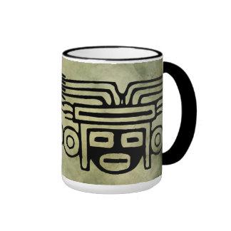 ancient african tribal symbols linocut coffee mug