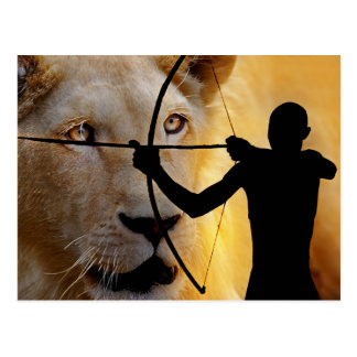 Ancient African Warrior Postcard