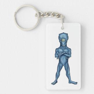 ancient alien Single-Sided rectangular acrylic keychain