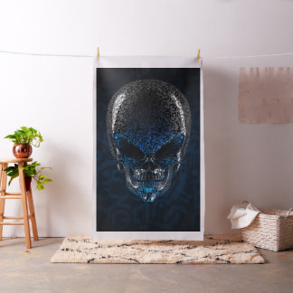 Ancient Alien Skull Tapestry Fabric