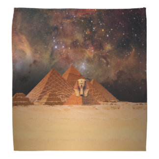 Ancient Alien Sphynx Pyramids in Space Bandana