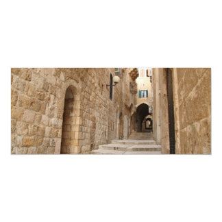 Ancient Alley in Jewish Quarter, Jerusalem Card