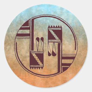Ancient Arts Native American Classic Round Sticker
