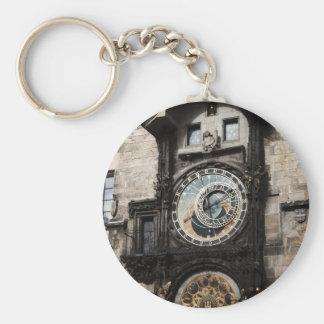 Ancient Astrology Timepiece Clock in Prague Czech Key Chains
