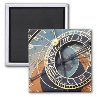 Ancient Astrology Timepiece Czech Clock. Magnet