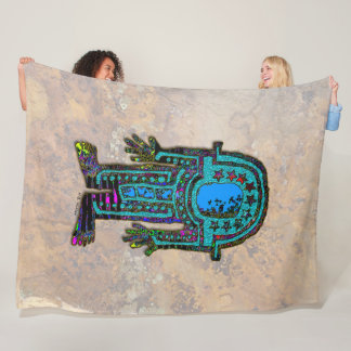 Ancient Astronaut Fleece Blanket