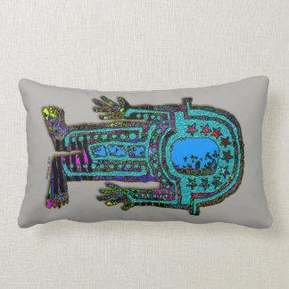 Ancient Astronaut Lumbar Pillow