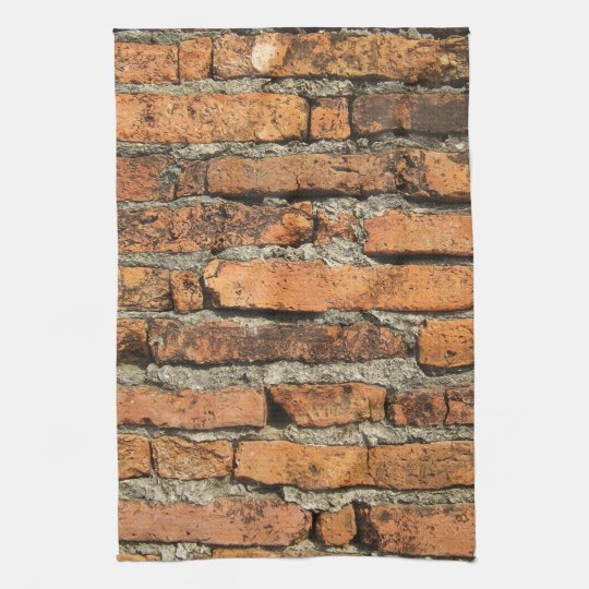 Ancient Brick Wall Kitchen Towels