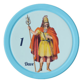 Ancient Briton COSTUME ~ Personalised DAVE ~ Poker Chips