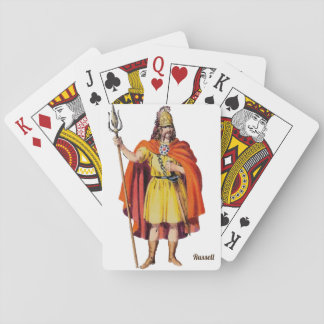Ancient Briton COSTUME ~ Personalised RUSSELL ~ Playing Cards