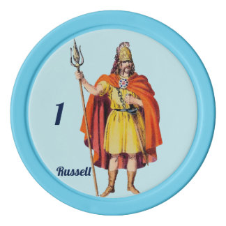 Ancient Briton COSTUME ~ Personalised RUSSELL ~ Poker Chips