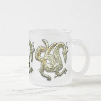 Ancient bronze chinese dragon coffee mug