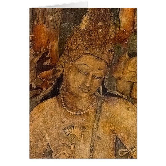 Ancient Buddhist Painting Card