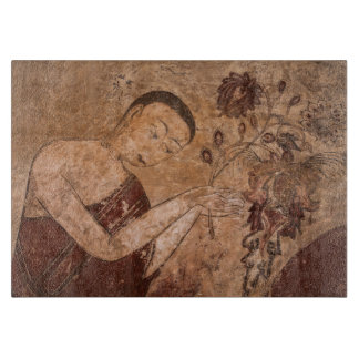 Ancient Buddhist Painting Cutting Board