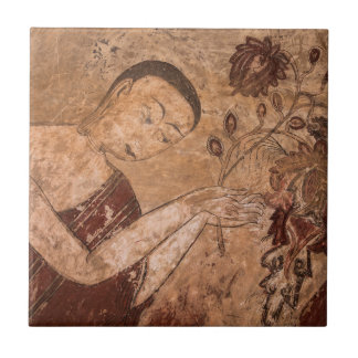 Ancient Buddhist Painting Tile