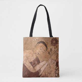 Ancient Buddhist Painting Tote Bag