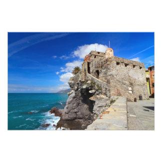 ancient castle in Camogli Photo Print