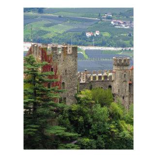 Ancient castle in Europe, Merano Letterhead Design