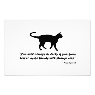 Ancient Cat Proverb Customized Stationery