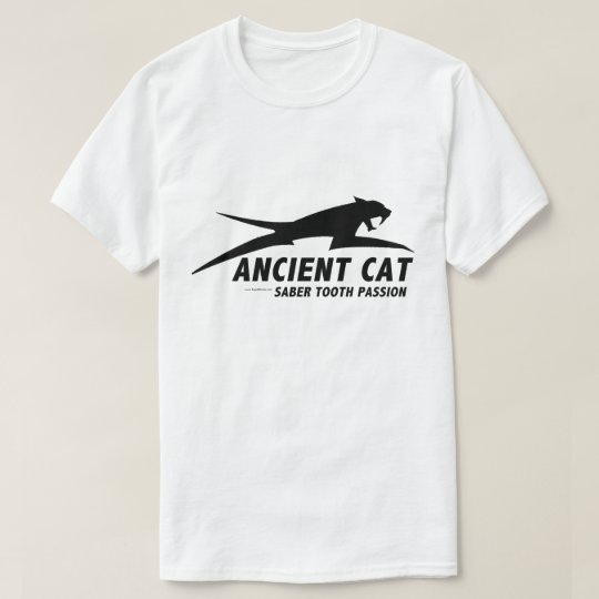 Ancient Cat (Sabre Toothed Cat) Light colour T-Shirt