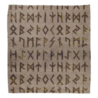 Ancient Celtic Runes  Alphabet pattern Bandana